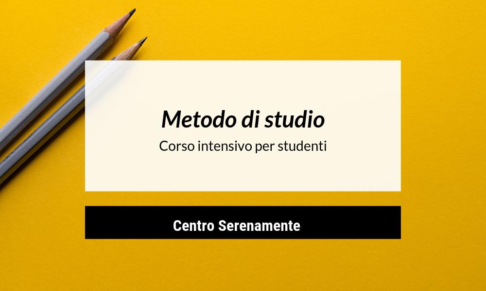 Metodo di studio: corso intensivo per studenti